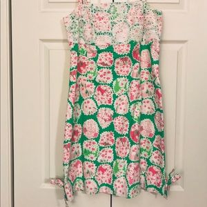 Lilly Pulitzer Dress - Green/Pink/White - Size 6